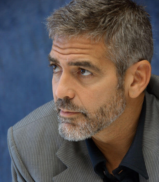 going gray hairstyles : george-clooney-haircut-07