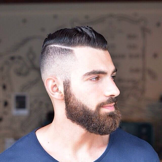 Fade Haircut with Beard