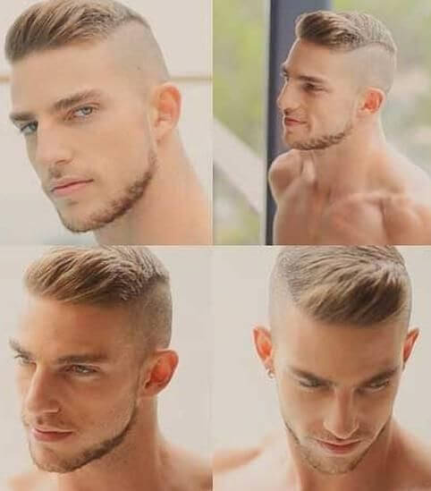 Hair sides shaved mens
