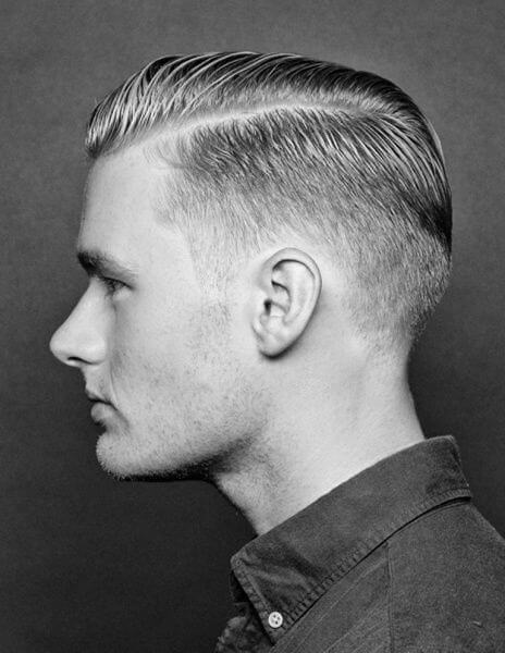 Galerry undercut hairstyle side part
